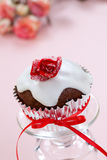 Rose Topped Muffin Stock Images