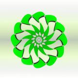 Rose torus icon, illustration. The Rose torus icon, illustration combine green and dark shadows Vector Illustration