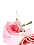 Rose and towel. Royalty Free Stock Photography