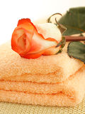 Rose and towels Royalty Free Stock Photo