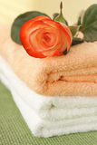 Rose and towels Stock Photography