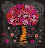 Rose tree stock illustration