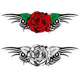 Rose with tribal Stock Photography