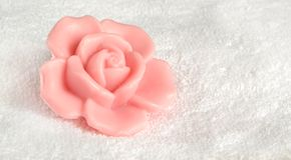 rose tvål Royaltyfria Bilder