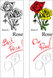 Rose - Two Price Tags. For florist shop Stock Photography