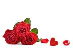 Rose und Herz. Lizenzfreie Stockfotos