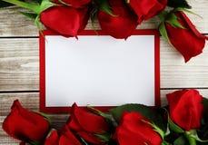 Rose und Karte Stockbilder