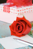 rose valentiner för dag Arkivfoto