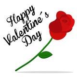 Rose Valentines Day-vector royalty-vrije illustratie