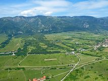 Rose Valley, Bulgaria. Aerial view of Rose Valley in central Bulgaria royalty free stock image
