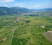 Rose Valley, Bulgaria. From the air Royalty Free Stock Images