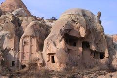 The rose valley in Cappadocia. Sandstone formations in the Rose Valley. Cappadocia, Turkey Royalty Free Stock Photo