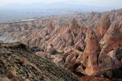The rose valley in Cappadocia. Sandstone formations in the Rose Valley. Cappadocia, Turkey Stock Images