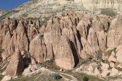 Rose Valley in Cavusin-Dorp, Cappadocia royalty-vrije stock foto's