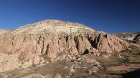 Rose Valley in Cavusin-Dorp, Cappadocia, Nevsehir, Turkije royalty-vrije stock afbeelding