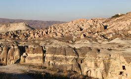 Rose Valley in Cavusin-Dorp, Cappadocia, Nevsehir, Turkije royalty-vrije stock foto's