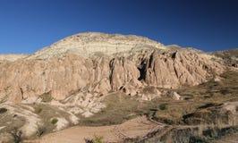 Rose Valley in Cavusin-Dorp, Cappadocia, Nevsehir, Turkije royalty-vrije stock fotografie