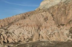 Rose Valley in Cavusin-Dorp, Cappadocia, Nevsehir, Turkije stock afbeelding