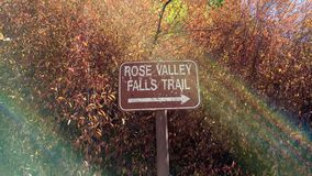 Rose Valley Falls trail marker Royalty Free Stock Photos