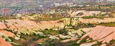 Rose valley in Cappadocia, Anatolia, Turkey. Royalty Free Stock Photography