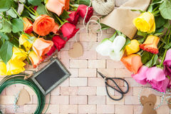 Rose variopinte luminose Fotografia Stock