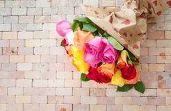 Rose variopinte luminose Fotografia Stock Libera da Diritti
