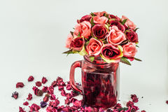 Rose Vase Photo stock