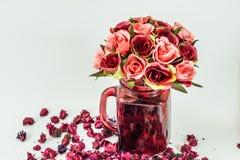 Rose Vase Stock Photo