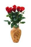 Rose in vaso fotografia stock