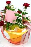 Rose in vaso da fiori Fotografia Stock