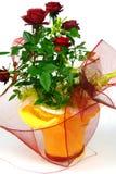 Rose in vaso da fiori Fotografia Stock Libera da Diritti