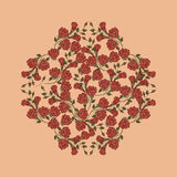 Rose Vector on cream Background Stock Images