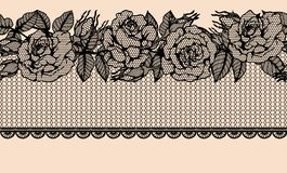 Rose vector lace by hand drawing.Rose lace art highly detailed in line art style. Rose vector lace by hand drawing.Beautiful flower on brown background.Rose lace Stock Images