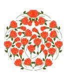 Rose Vector op Witte Achtergrond Royalty-vrije Stock Afbeeldingen