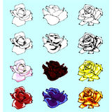 Rose Vector Set Stock Photo