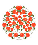 Rose Vector on White Background Royalty Free Stock Images