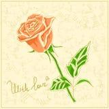 rose vektortappning för bakgrund Royaltyfria Bilder