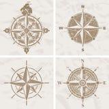 rose vektortappning för kompass royaltyfri illustrationer