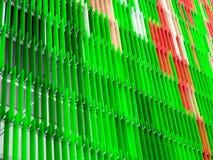 rose vert coloré intérieur et extérieur de feuille en plastique acrylique Images libres de droits