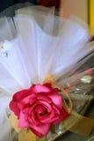 Rose verzierte Schokoladenbrautmaterial Lizenzfreies Stockbild