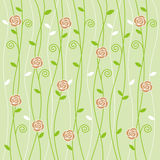Rose and vine background pattern Stock Photo
