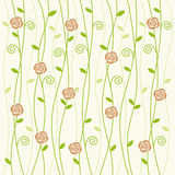 Rose and vine background pattern Stock Photography