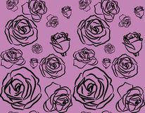Rose on violet background seamless Royalty Free Stock Photography