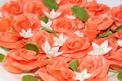 Rose von marcipan Stockfoto