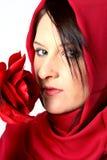 rose wąchający kobiety Zdjęcie Stock
