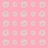 Rose wallpaper great for any use. Vector EPS10. Royalty Free Stock Images