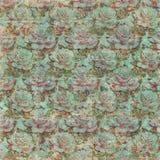 Rose Wallpaper Pattern Grungy d'annata con testo Fotografie Stock Libere da Diritti
