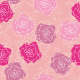 Rose wallpaper seamless pattern. Seamless rose flowers pattern illustration Stock Image