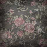 Rose wallpaper on stone background  , Grunge design.  Royalty Free Stock Photography