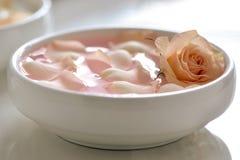 Rose water Stock Image